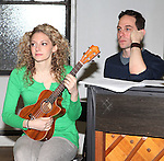Lauren Molina & Garth Kravits attending the Rehearsal for the Bucks County Playhouse production of 'It's a Wonderful Life - A Live Radio Play' at their rehearsal studios in New York City on December 5, 2012.
