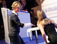 Beatrice Lorenzin, Ministro della Salute, interviene durante il XXIX convegno di Capri per Napoli   dei  Giovani Industriali a Citta della Scienza , 25 Ottobre 2014