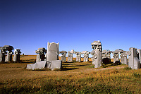Obscure Carhenge designed 1987 by a Reindeers family in Alliance Nebrask