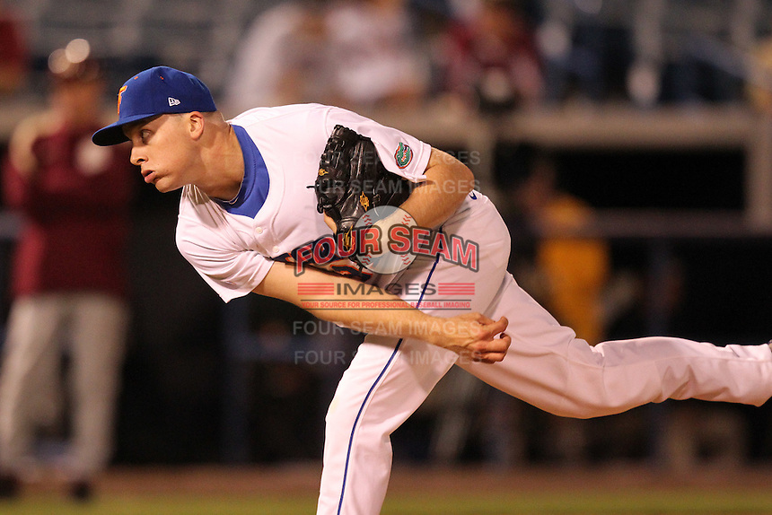 "Florida Gators Greg Larson #37 during a game vs. the Florida State Seminoles in the ""Florida Four"" at George M. Steinbrenner Field in Tampa, Florida;  March 1, 2011.  Florida State defeated Florida 5-3.  Photo By Mike Janes/Four Seam Images"