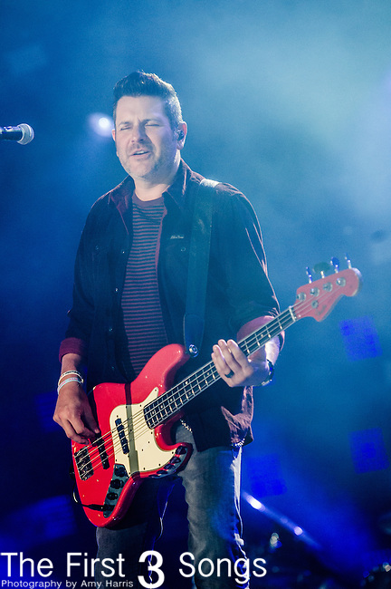 Jay DeMarcus of Rascal Flatts performs at LP Field during Day One of the 2014 CMA Music Festival in Nashville, Tennessee.