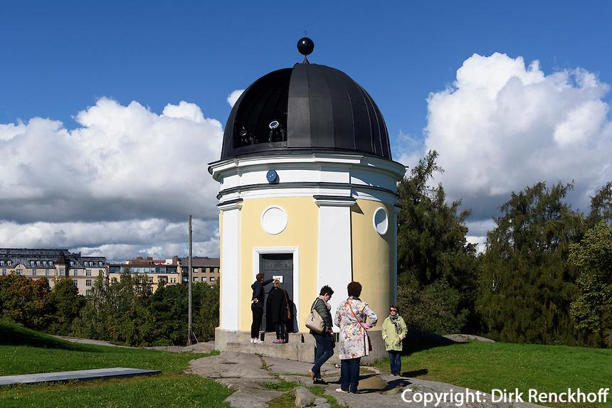 Observatorium im Park Kaivopuisto, Helsinki, Finnland