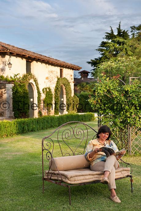 Owner Marianna Guerresco in her garden