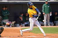 James Howard #15 of the North Carolina A&T Aggies takes his swings against the Charlotte 49ers at War Memorial Stadium March 23, 2010, in Greensboro, North Carolina.  Photo by Brian Westerholt / Four Seam Images