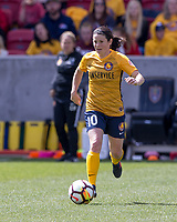 Sandy, UT - Saturday April 14, 2018: Diana Matheson during a regular season National Women's Soccer League (NWSL) match between the Utah Royals FC and the Chicago Red Stars at Rio Tinto Stadium.