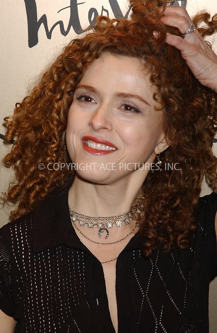 WWW.ACEPIXS.COM . . . . . ....NEW YORK, FEBRUARY 10, 2005....Bernadette Peters at the Zac Posen after party.....Please byline: KRISTIN CALLAHAN - ACE PICTURES.. . . . . . ..Ace Pictures, Inc:  ..Philip Vaughan (646) 769-0430..e-mail: info@acepixs.com..web: http://www.acepixs.com