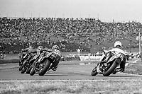 Larry Shorts, #20 Suzuki, Rueben McMurter, #24 Yamaha, Daytona 200, AMA Superbikes, Daytona International Speedway, Daytona Beach, FL, March 9, 1986.(Photo by Brian Cleary/bcpix.com)