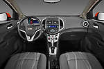 Straight Dashboard view of 2013 Chevrolet Sonic LT 5 Door Stock Photo