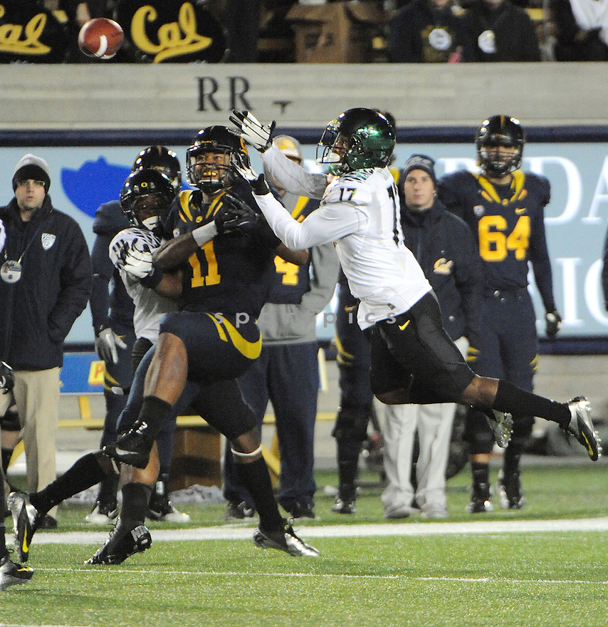 Cal Golden Bears Richard Rodgers (11) in action during a game against Oregon on November 10, 2012 at Memorial Stadium in Berkeley, CA.  Oregon beat Cal 59-17.