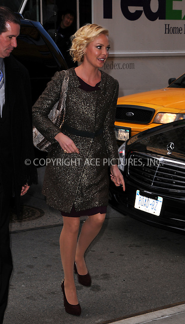 WWW.ACEPIXS.COM . . . . .  ....January 24 2012, New York City....Actress Katherine Heigl arriving at her downtown hotel on January 24 2012 in New York City....Please byline: CURTIS MEANS - ACE PICTURES.... *** ***..Ace Pictures, Inc:  ..Philip Vaughan (212) 243-8787 or (646) 679 0430..e-mail: info@acepixs.com..web: http://www.acepixs.com