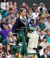 03-07-12, England, London, Tennis , Wimbledon,  Umpire