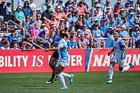 Kansas City, MO - Wednesday August 16, 2017: Sydney Leroux Dwyer, Ali Krieger during a regular season National Women's Soccer League (NWSL) match between FC Kansas City and the Orlando Pride at Children's Mercy Victory Field.
