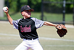 WATERBURY,  CT-071918JS14--Overlook's Aiden Frenis (13) delivers a pitch during their Roberto Clemente tournament game against Brooklyn (NY) Bonnie's Thursday at Municipal Stadium in Waterbury. <br /> Jim Shannon Republican American