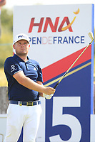 Tyrrell Hatton (ENG) on the 15th tee during Round 3 of the HNA Open De France at Le Golf National in Saint-Quentin-En-Yvelines, Paris, France on Saturday 30th June 2018.<br /> Picture:  Thos Caffrey | Golffile