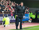 Aberdeen v St Johnstone....01.02.14   League Cup Semi-Final<br /> Tommy Wright shouts at his players<br /> Picture by Graeme Hart.<br /> Copyright Perthshire Picture Agency<br /> Tel: 01738 623350  Mobile: 07990 594431