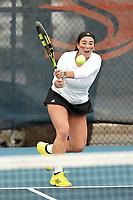 SAN ANTONIO, TX - FEBRUARY 3, 2018: The University of Texas at San Antonio Roadrunners fall to the Sam Houston State University Bearkats 6-1 at the UTSA Tennis Center. (Photo by Jeff Huehn)