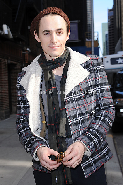 WWW.ACEPIXS.COM . . . . . .March 3, 2011...New York City...Reeve Carney tapes the Late Show with David Letterman on March 3, 2011 in New York City....Please byline: KRISTIN CALLAHAN - ACEPIXS.COM.. . . . . . ..Ace Pictures, Inc: ..tel: (212) 243 8787 or (646) 769 0430..e-mail: info@acepixs.com..web: http://www.acepixs.com .