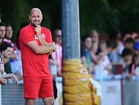 Lincoln United manager Sam Wilkinson shouts instructions to his team from the technical area<br /> <br /> Photographer Chris Vaughan/CameraSport<br /> <br /> Football - Pre-Season Friendly - Lincoln United v Lincoln City - Saturday 8th July 2017 - Sun Hat Villas Stadium - Lincoln<br /> <br /> World Copyright &copy; 2017 CameraSport. All rights reserved. 43 Linden Ave. Countesthorpe. Leicester. England. LE8 5PG - Tel: +44 (0) 116 277 4147 - admin@camerasport.com - www.camerasport.com
