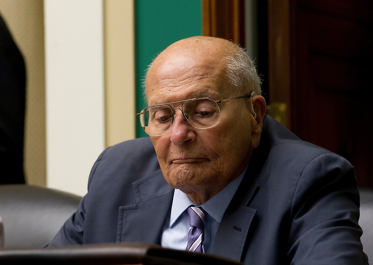 UNITED STATES - July 31: Rep. John Dingell, D-MI.,  during the House Energy and Commerce full committee markup of H.R. 2810 – Medicare Patient Access and Quality Improvement Act of 2013, and H.R. 2844 – Federal Communications Commission Consolidated Reporting Act of 2013 in the Rayburn House Office Building on July 31, 2013.  (Photo By Douglas Graham/CQ Roll Call)
