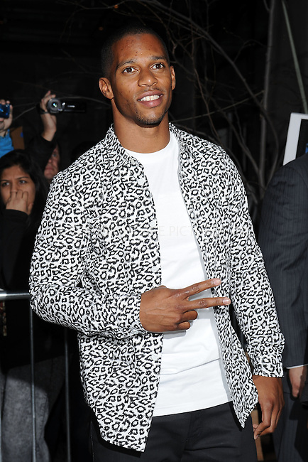 WWW.ACEPIXS.COM . . . . . .April 15, 2013...New York City....Victor Cruz attends a screening of 'Pain and Gain' held at Crosby Street Hotel on April 15, 2013  in New York City. ....Please byline: KRISTIN CALLAHAN - WWW.ACEPIXS.COM.. . . . . . ..Ace Pictures, Inc: ..tel: (212) 243 8787 or (646) 769 0430..e-mail: info@acepixs.com..web: http://www.acepixs.com .