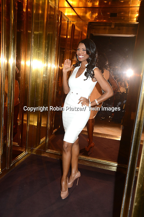 """Omarosa Manigault attend the press Event for Omarosa Manigault's firing from """" The Celebrity Apprentice"""" on April 1, 2013 at Trump Tower in New York City"""