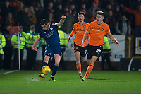27th December 2019; Dens Park, Dundee, Scotland; Scottish Championship Football, Dundee Football Club versus Dundee United; Graham Dorrans of Dundee clears from Louis Appere of Dundee United  - Editorial Use