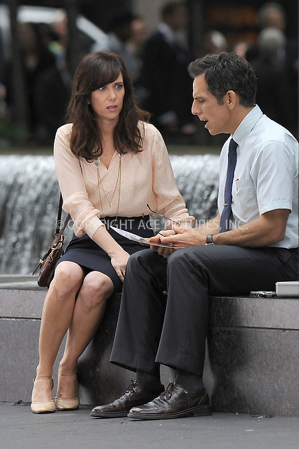 """WWW.ACEPIXS.COM . . . . . .May 30, 2012...New York City....Kristen Wiig and Ben Stiller on the film set """"The Secret Life of Walter Mitty"""" on May 30, 2012 in New York City ....Please byline: KRISTIN CALLAHAN - ACEPIXS.COM.. . . . . . ..Ace Pictures, Inc: ..tel: (212) 243 8787 or (646) 769 0430..e-mail: info@acepixs.com..web: http://www.acepixs.com ."""