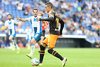 2nd November 2019; RCDE Stadium, Barcelona, Catalonia, Spain;La Liga Football, Real Club Deportiu Espanyol de Barcelona versus Club de Futbol Valencia;  Rodrigo of Valancia on the ball - Editorial Use