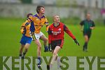 Beaufort's John Doona and Tarbert's Eamon Leahy..   Copyright Kerry's Eye 2008
