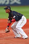 Atsunori Inaba (JPN), .February 26, 2013 - WBC : .2013 World Baseball Classic, Exhibithion Game .match between Japan 0-1 Hanshin Tigers  .at Kyocera Dome, Osaka, Japan..(Photo by AJPS/AFLO SPORT)