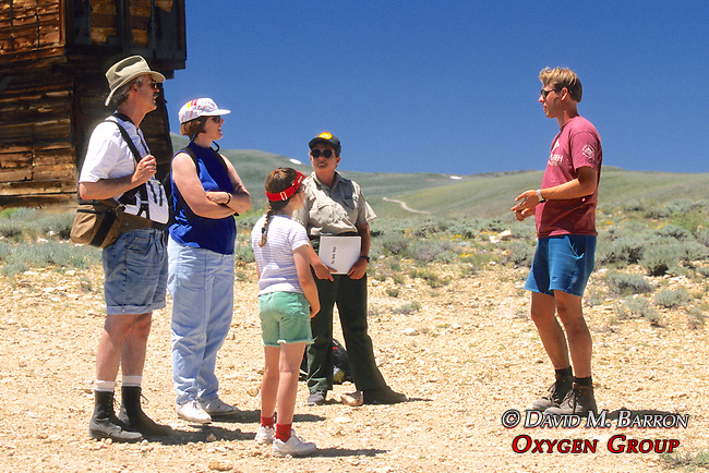 John Frisch Speaking To Tourists on Bodie Tour