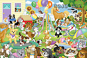 Janet, CUTE ANIMALS, puzzle, paintings(USJS207,#AC#) illustrations, pinturas, rompe cabeza