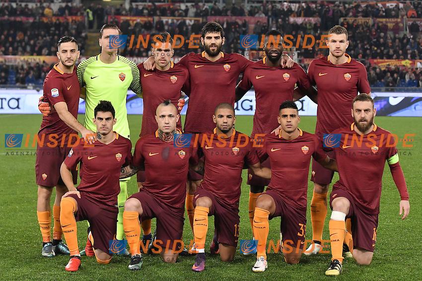 AS Roma team lineups Formazione <br /> Roma 12-12-2016 Stadio Olimpico Football <br /> Campionato Serie A 2016/2017 <br /> AS Roma - Milan <br /> Foto Andrea Staccioli / Insidefoto