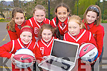 Killarney Cougars basketballers who have launched their new wbsite killarneycougars.com front row l-r: Fianait O'Donoghue, Katie Mai Moloney, Marie Joy. Back row: Katie Gaffey, Leanne Herlihy, Amrita Dhami and Kelly Anne Ahern
