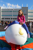 Pictured: Nine year old Eleri Thomas from Baglan. Saturday 13 October 2012<br />