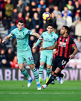 Granit Xhaka of Arsenal heads the ball away from Callum Wilson of AFC Bournemouth during AFC Bournemouth vs Arsenal, Premier League Football at the Vitality Stadium on 25th November 2018