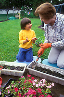 Gardening with Children Stock Images