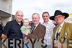 John Perrymann and Kiaran, Tadhg, Connor and Eoin Moriarty from Listowel at the races last Friday afternoon.