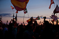 During the IST opening-ceremony there were a lot of different nationflags. Photo: Kim Rask/Scouterna
