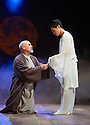 The Orphan of Zhao adapted by James Fenton. A Royal Shakespeare Company Production directed by Gregory Doran.  With Graham Turner as Dr Cheng Ying, Chris Lew Kum Hoi as Ghost of the Son. Opens at Swan Theatre at Stratford Upon Avon on 8/11/12. CREDIT Geraint Lewis