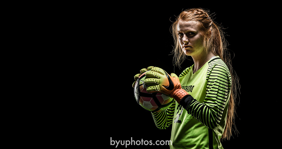 _RE_2098<br /> <br /> 17wSOC Poster Shoot on Black<br /> <br /> April 14, 2017<br /> <br /> Photography by Nate Edwards/BYU<br /> <br /> © BYU PHOTO 2016<br /> All Rights Reserved<br /> photo@byu.edu  (801)422-7322