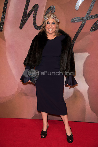 Brix Smith<br /> The Fashion Awards 2016 , arrivals at the Royal Albert Hall, London, England on December 05 2016.<br /> CAP/PL<br /> ©Phil Loftus/Capital Pictures /MediaPunch ***NORTH AND SOUTH AMERICAS ONLY***