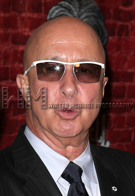 Paul Shaffer.arriving for the Opening Night Performance of the Broadway Revival of 'Godspell' at Circle in the Square Theatre in New York City.