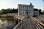 A waterfront home with a long dock we rented in Old Harbor
