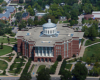 aerial photograph, William T. Young Library, University of Kentucky, Lexington, Kentucky