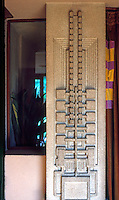 F.L. Wright: Barnsdall House. Living room wall detail.