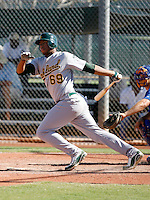 Jeremy Barfield - Oakland Athletics 2009 Instructional League.Photo by:  Bill Mitchell/Four Seam Images..