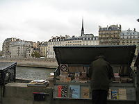 Parisian book stalls on the Seine
