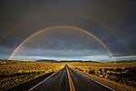 Double rainbow over the sage, Pine Nut Mountains, Gardnerville, Nevada.