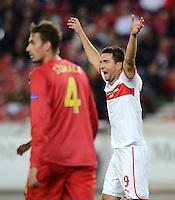 FUSSBALL   EUROPA LEAGUE   SAISON 2012/2013   20.09.2012 VfB Stuttgart - FC Steaua Bukarest JUBEL Vedad Ibisevic (VfB Stuttgart)